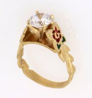 Hibiscus Scroll Ring