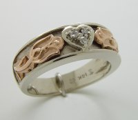 Rose Two Tone Ring