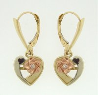 Heart Plumeira Earrings